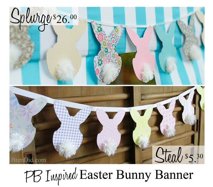 Easter bunny, pottery barn, knockoff, banner, Silhouette, tutorial