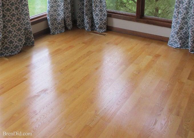 Non toxic all natural restorer for hardwood floors bren did for Hardwood floors too shiny