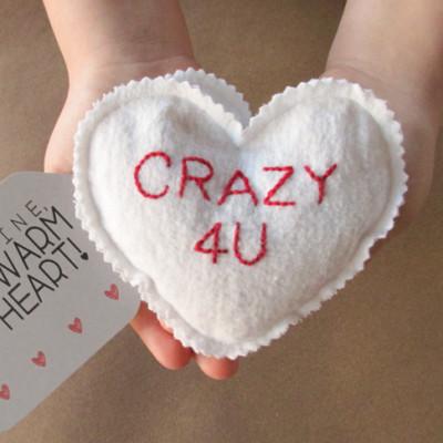 Valentine's Day Craft: Microwave Homemade Heating Pad