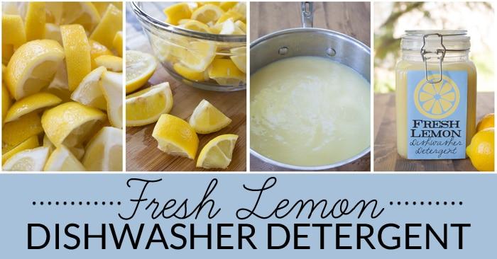 Fresh Lemon Homemade Dishwasher Detergent Bren Did