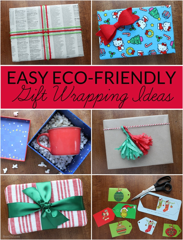 Eco Friendly Gift Wrapping Ideas Bren Did