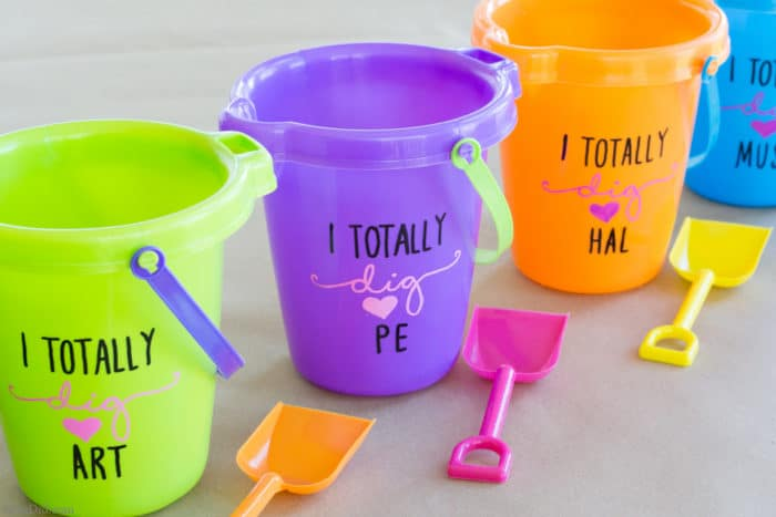 Beach Pail Party Favors Saying Thank You For Coming: Flower Pails: An Easy & Affordable Teacher Appreciation