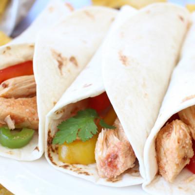 Healthy Slow Cooker Chicken Fajitas