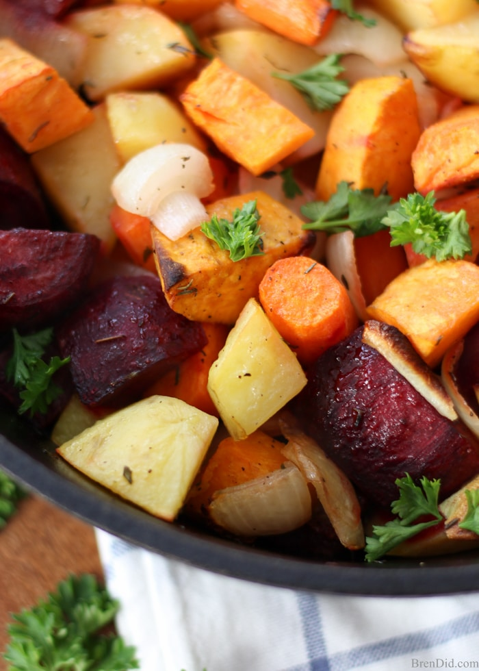 Oven Roasted Root Vegetables - Bren Did