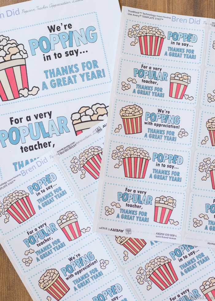 Popular Amp Quick Gift Tags For Teacher Appreciation Week