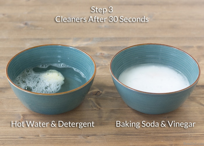 how to clean a clogged bowl