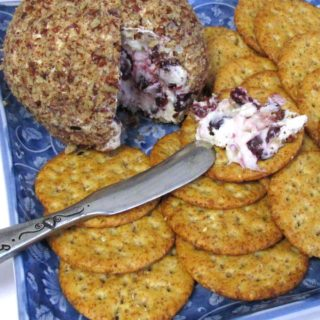 Gorgonzola Cheese Ball Recipe with Caramelized Onions