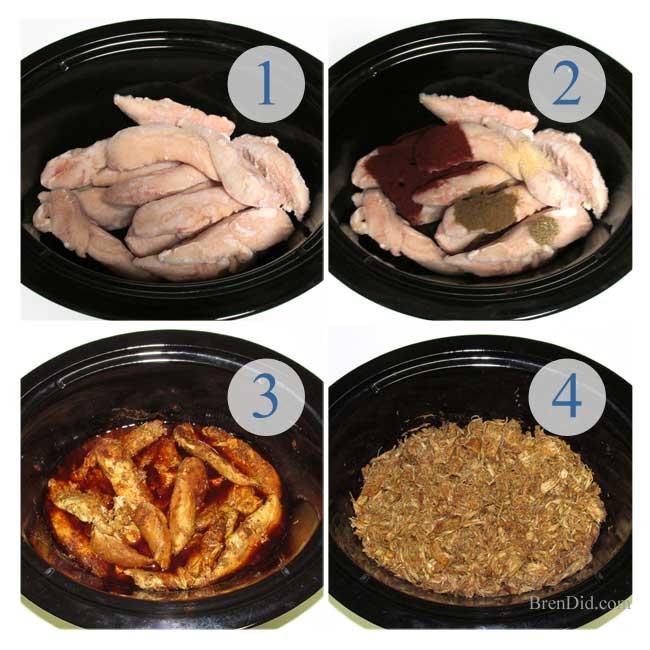 BrenDid-Taco-Directions, healthy chicken taco recipe, healthy crock pot recipe, throw and go