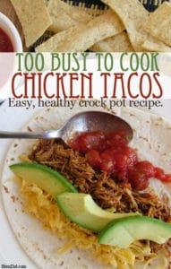 BrenDidHealthy Crock Pot Chicken Tacos Recipe