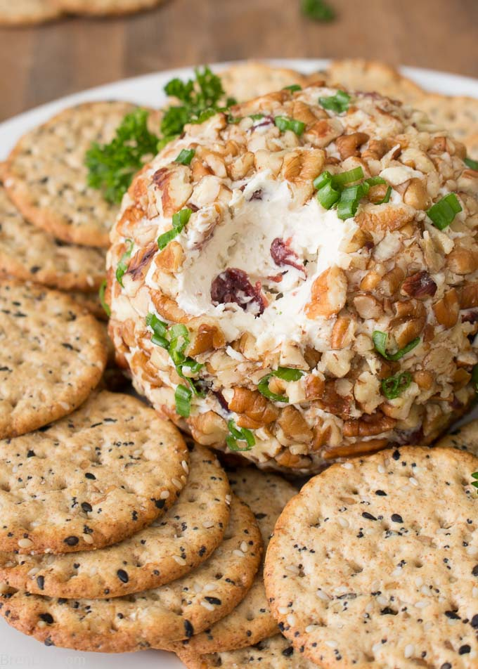 Gorgonzola Cheese Ball cut open