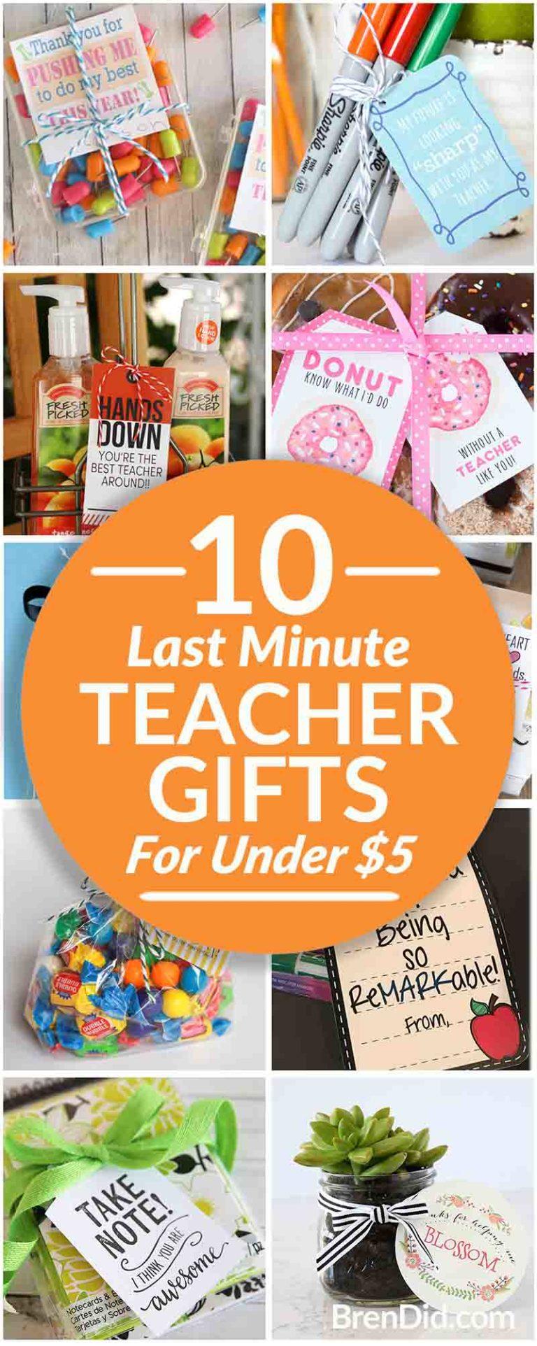 Last Minute Teacher Gifts pin