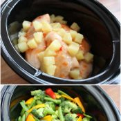 Sweet Chili Pineapple Chicken collage