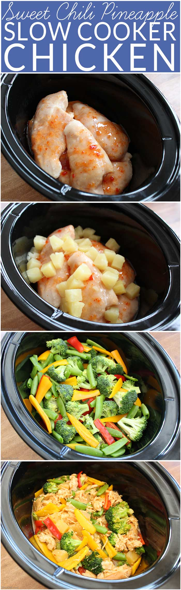 Sweet Chili Pineapple Chicken Easy Crockpot Recipe Bren Did