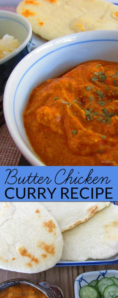 Easy Butter Chicken Curry is an easy and delicious curry that cooks on the stovetop or as a crock pot meal. It's a healthy meal that kids love. Introduce your kids to Indian food with this quick and easy dinner.