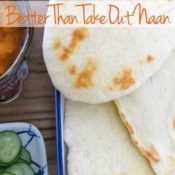 The best part of Indian food... naan! Learn how to make this easy naan recipe that is just as good as you favorite restaurant!