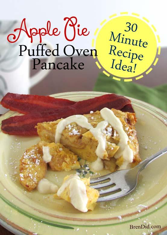 BrenDid Apple Pie Puffed Oven Pancake, apple puffed oven pancake recipe