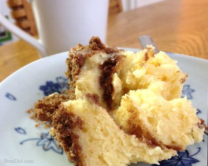 Crumb Coffee Cake in a Mug - Delicious coffee cake in 5 minutes when you use your microwave.