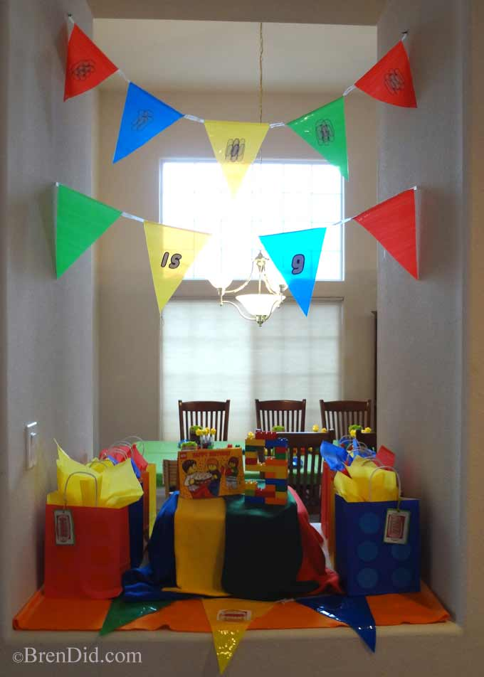 BrenDid Lego Birthday Party - Easy ideas to make your Lego party spectacular!