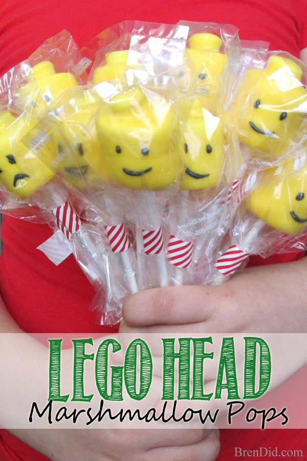 Hosting a Lego themed birthday party? Try this Lego Head Marshmallow Pops Recipe; they are an easy and adorable way to add Lego head decorations to your table and treat bags.