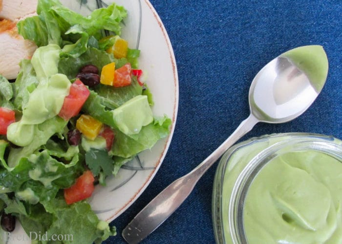 Southwest Salad with Creamy Avocado Dressing