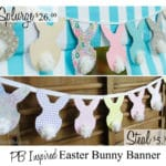 Easter Bunnies Garland Paper Craft