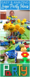 These easy Lego birthday party ideas make any at home birthday party a huge success! Get ideas for easy decor, fun party games, simple party treats, good bags, and more!