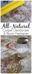 Natural Odor Eliminator, Natural Febreeze, Odor Eliminator, Vacuum Powder: Natural Carpet Deodorizer and Room Freshener eliminates odors while you vacuum. Try making a batch today.