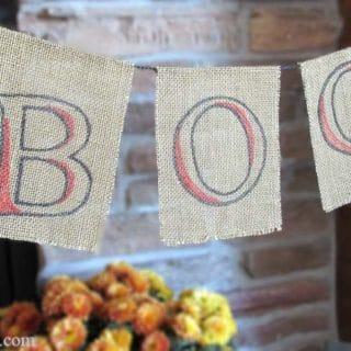 PB Inspired BOO Halloween Banner DIY