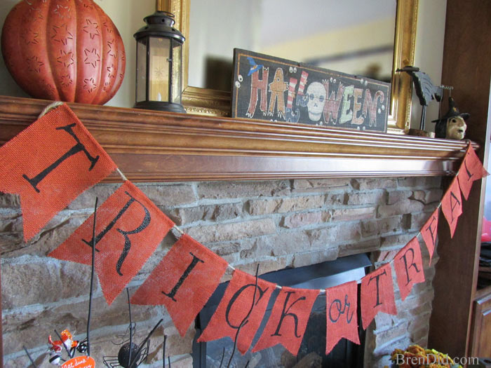 BrenDid Dollar Pottery Barn Kids Inspired Trick or Treat Banner