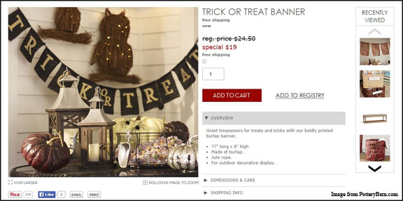 Pottery Barn Inspired Trick or Treat Banner Black and Harry Potter Decor