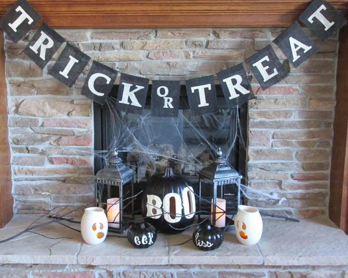 Pottery Barn Inspired Black BOO Pumpkin Luminary