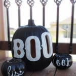 PB Inspired BOO Halloween Pumpkin Luminary