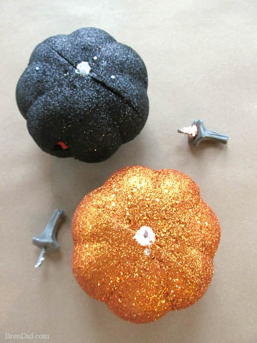 PB Inspired Light Up Glitter Pumpkin