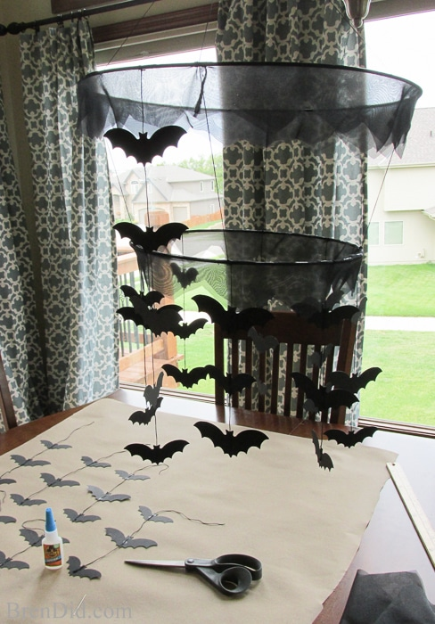 Pottery Barn Kids Inspired Bat Chandelier