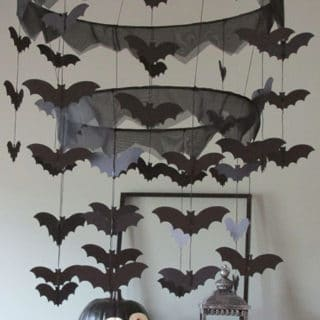 PB Kids Inspired Bat Halloween Chandelier