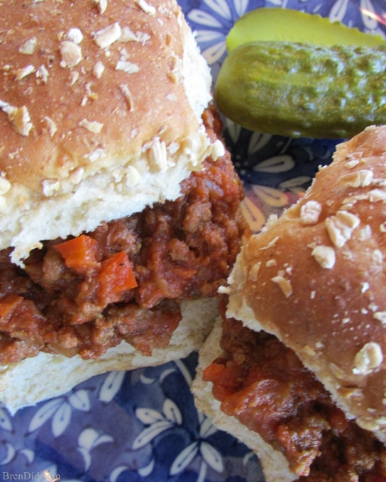 Bren Did Super Vegetable Sloppy Joes – A sure kid pleaser packed with more than a full serving of vegetables (and your family will never even know)! Must try, extra vegetables are always a bonus!