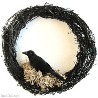 BrenDid Williams Sonoma Inspired Halloween Crow Wreath