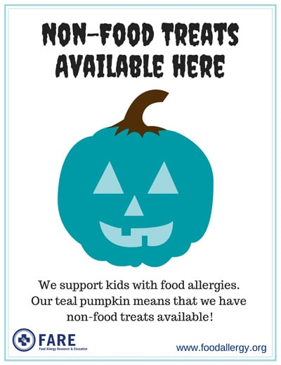 BrenDid Treat Not Trick Halloween Treat Bags Teal Pumpkin Project