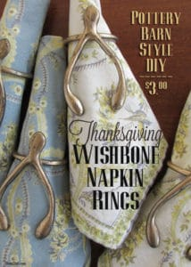 BrenDid Thanksgiving Table Ideas DIY Wishbone Napkin Rings
