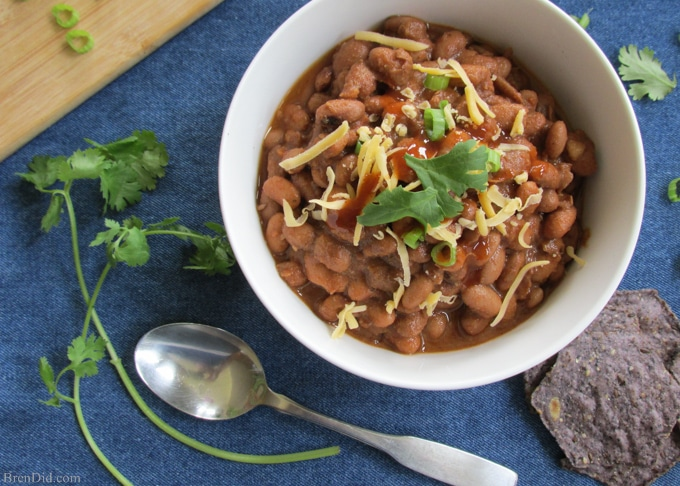BrenDid Southwest Ranch Pinto Beans Crockpot Recipe