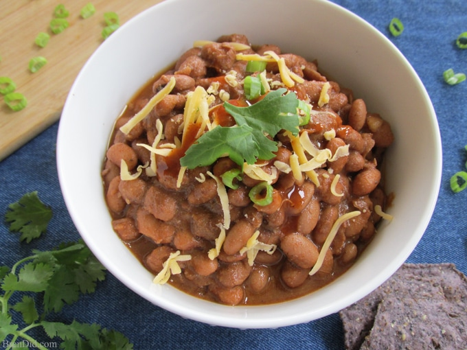 easy crock pot chili with pinto beans