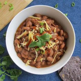 Southwest Ranch Style Beans (Easy Crock Pot Recipe)