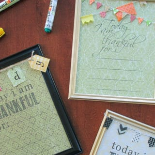 Thanksgiving Crafts Dry Erase Board & Free Printable