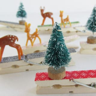 Clothespin Crafts: Homemade Christmas Gift Tags