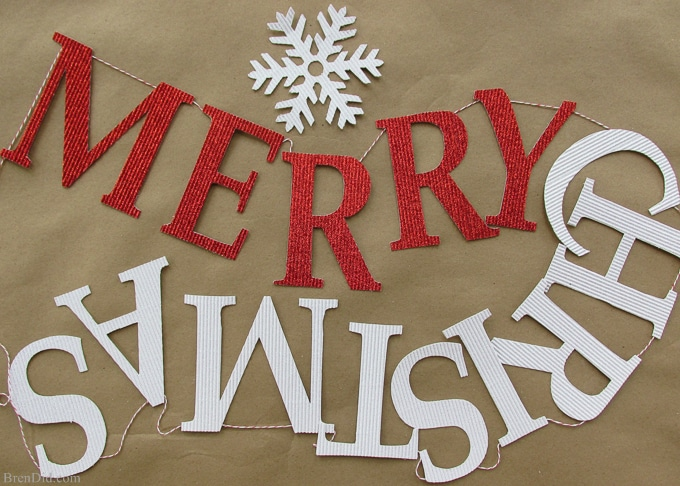 easy and affordable christmas decorations pb inspired merry christmas banner make - Merry Christmas Decorations
