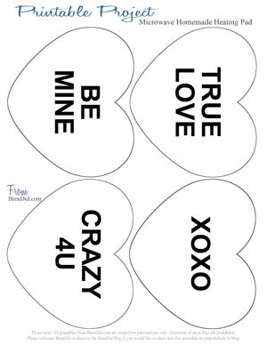 Free Printable Conversation Heart Color Pages