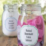 Natural Homemade Fabric Softener & Dryer Sheets
