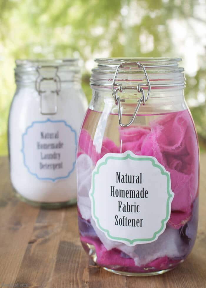 Homemade Fabric Softener & Dryer Sheets