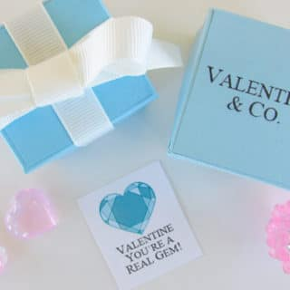 You're a Real Gem DIY Gift Box and Free Printable Valentine Cards
