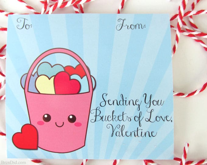 graphic regarding Printable Kid Valentines identify Buckets of Take pleasure in No cost Printable Valentine Playing cards and Do-it-yourself